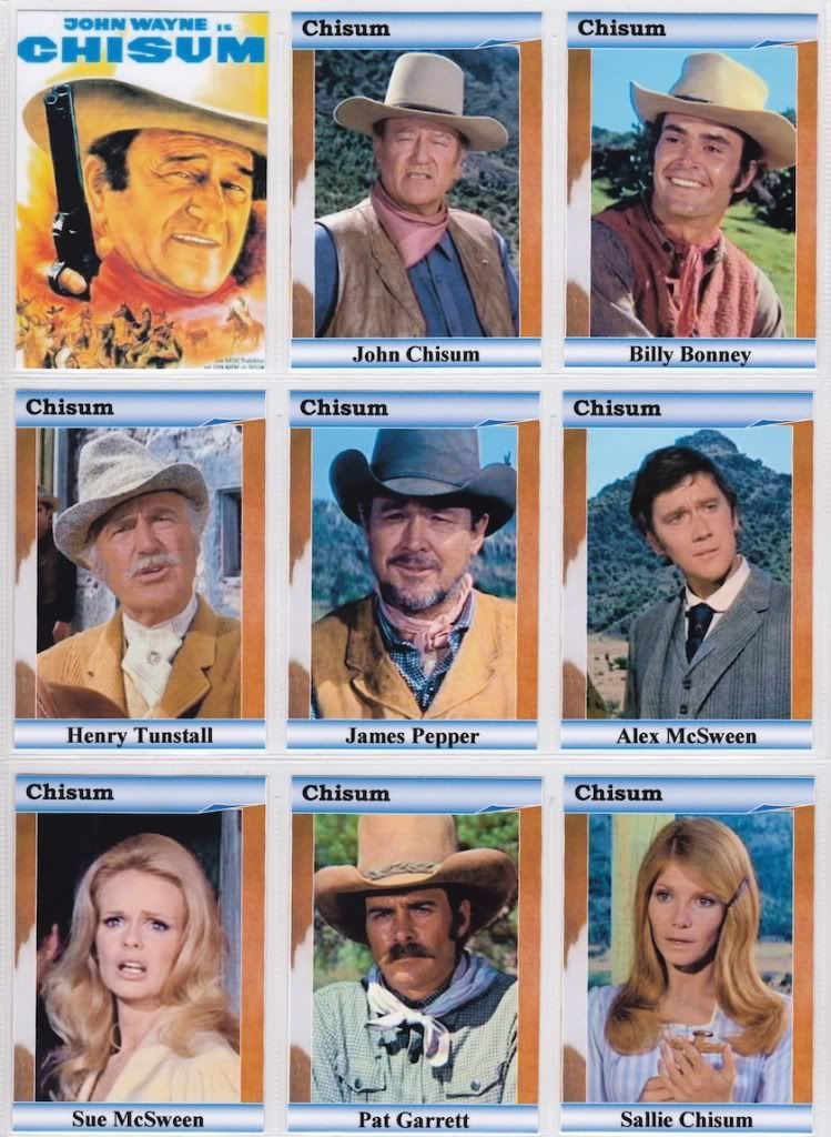 The Alamo John Wayne movie trading cards