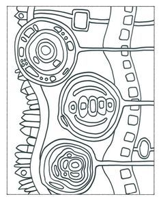 Hundertwasser Malvorlagen Hundertwasser Kunst Arbeitsblatt Hundertwasser Bilder