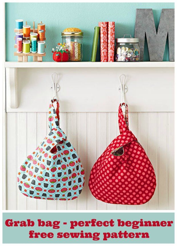 Grab Bag Beginner Sewing Pattern Free Bags To Sew Pinterest