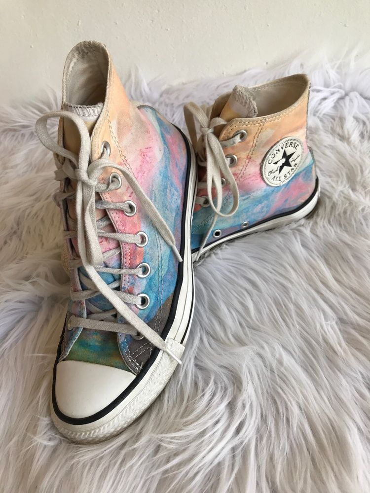 2a877cbd6e51b Converse Women's Hi High Top Chuck Taylor Shoes W7 Watercolor ...