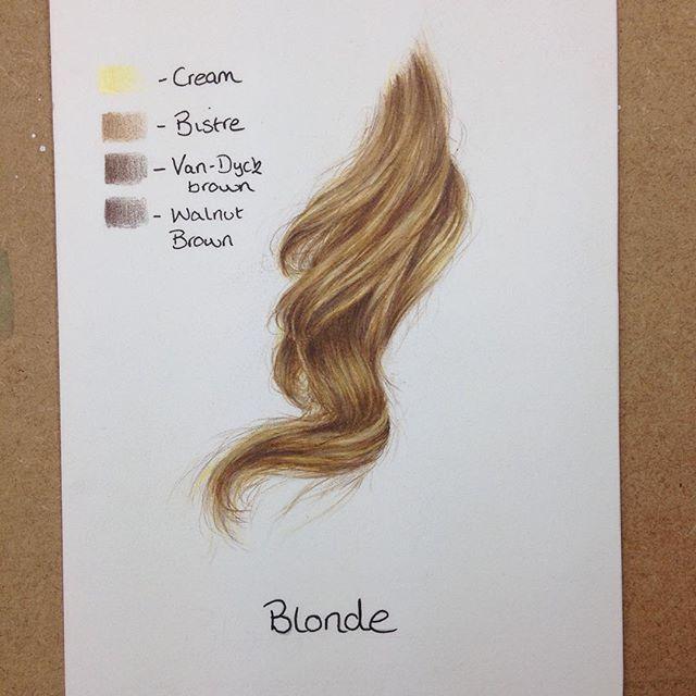 Blonde haare malen