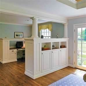 Half Wall Cabinets Bring Up The Height And Add Cabinet Space