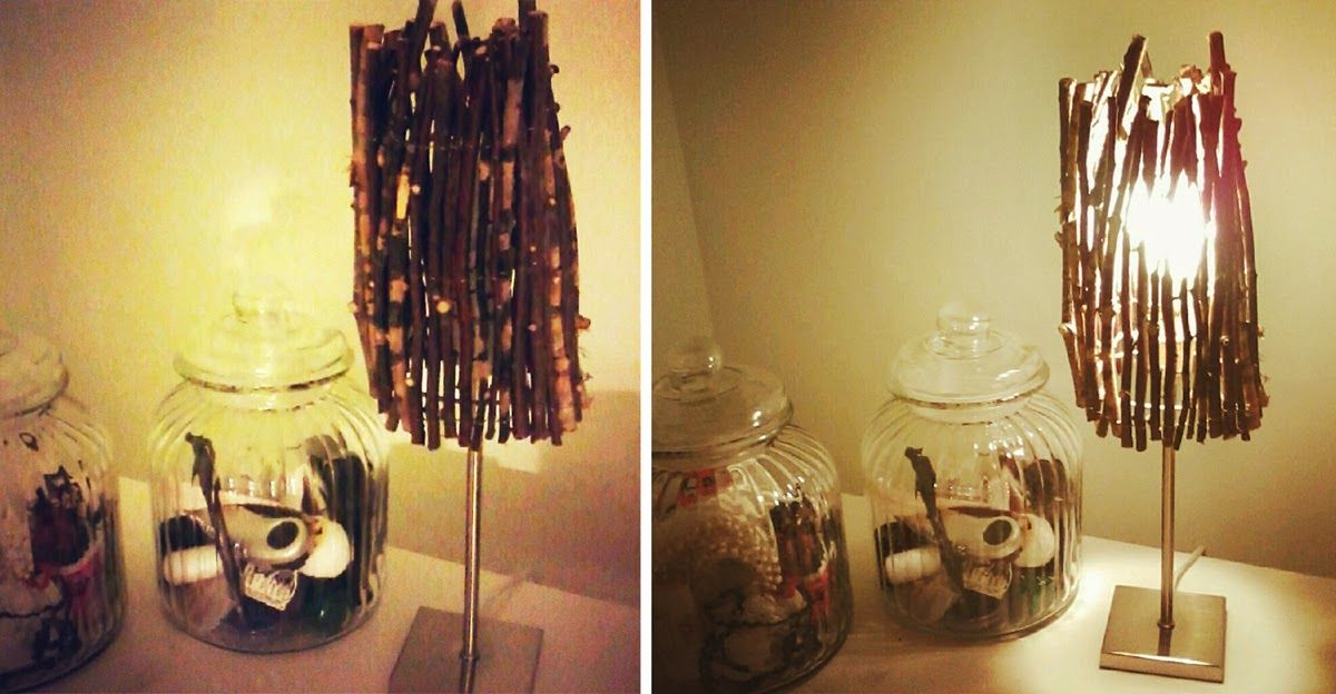 East and Sixty Eight | Birch tree twig lamp shade DIY