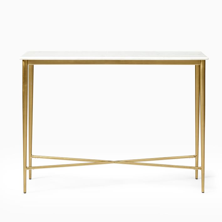 Neve Marble Console In 2020 Marble Console Table Marble Side Tables Slim Console Table