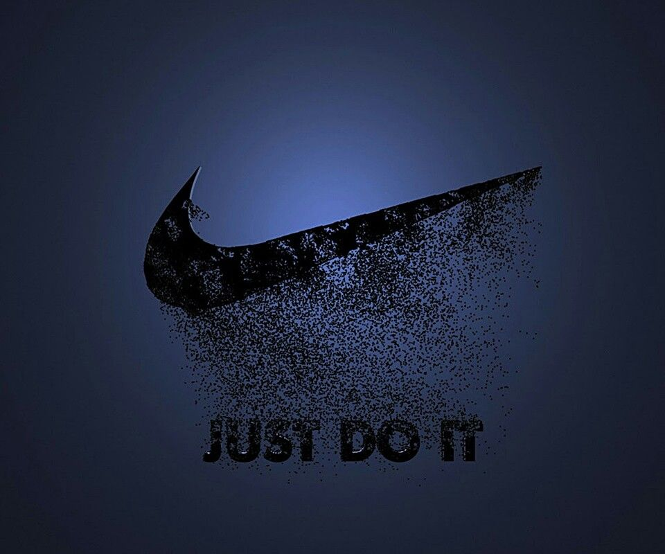 Just do it #blue #nike #poster | Nike wallpaper, Nike logo wallpapers, Logo wallpaper hd