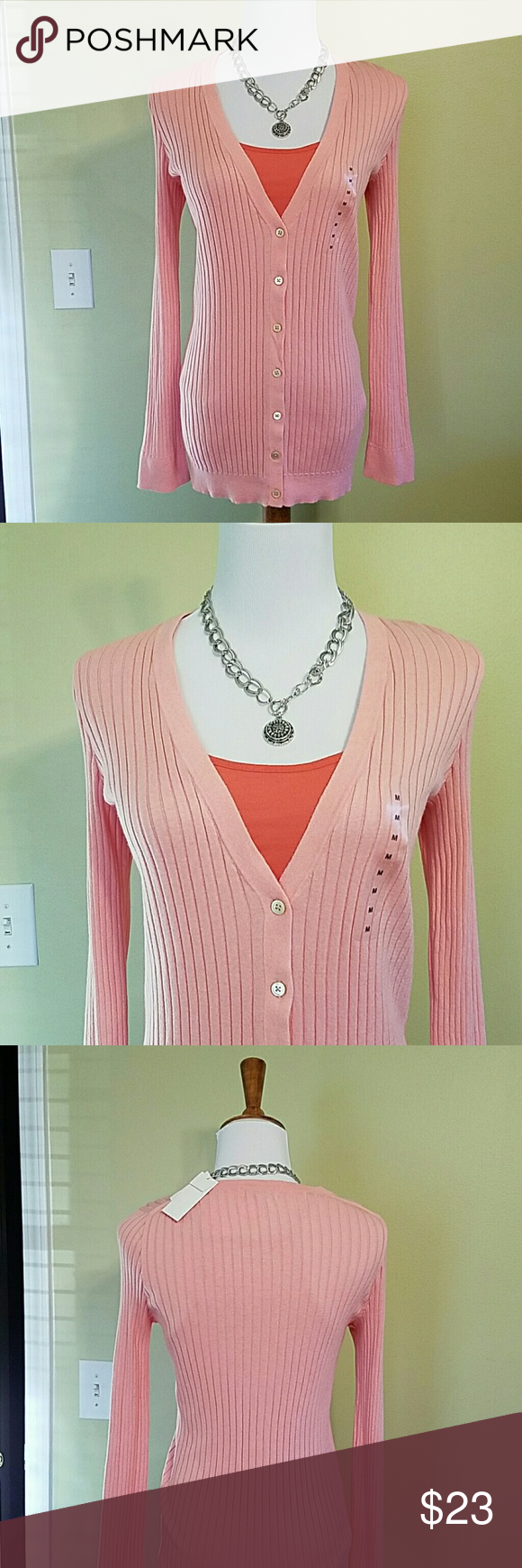NWT PALE PINK BUTTON UP SWEATER FROM GAP NWT Button up sweater ...