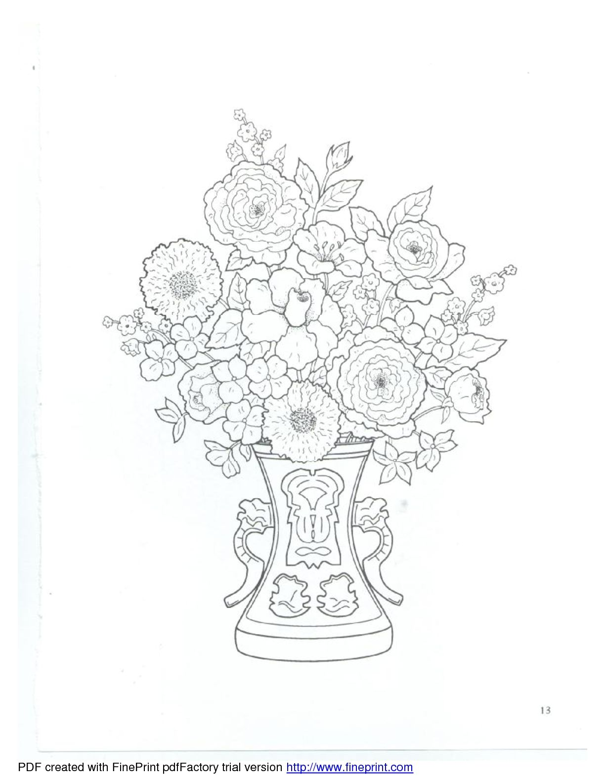 Dover Floral Bouquets Coloring Book Coloring Books Coloring Pages Cool Coloring Pages
