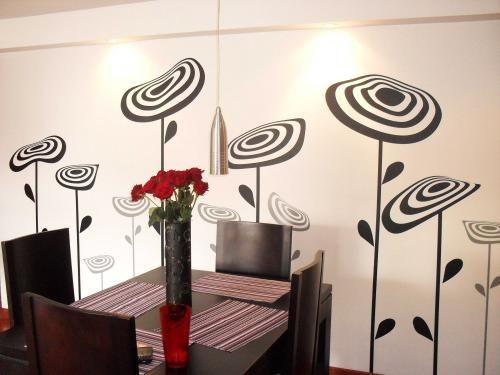 paredes decoradas con flores de vinilo - Buscar con Google Mundo
