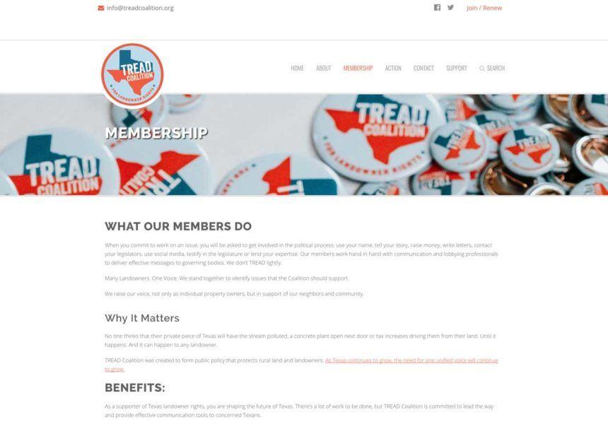Austin Web And Design Portfolio Elaborage Package Tread Coalition Custom Templates Portfolio Design Web Design Projects