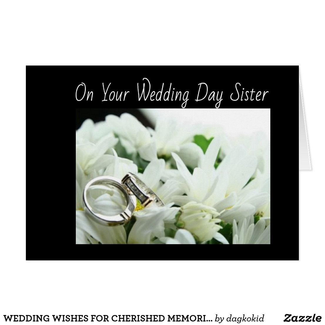 Sisters Wedding Wishes For Cherished Memories Card Greeting
