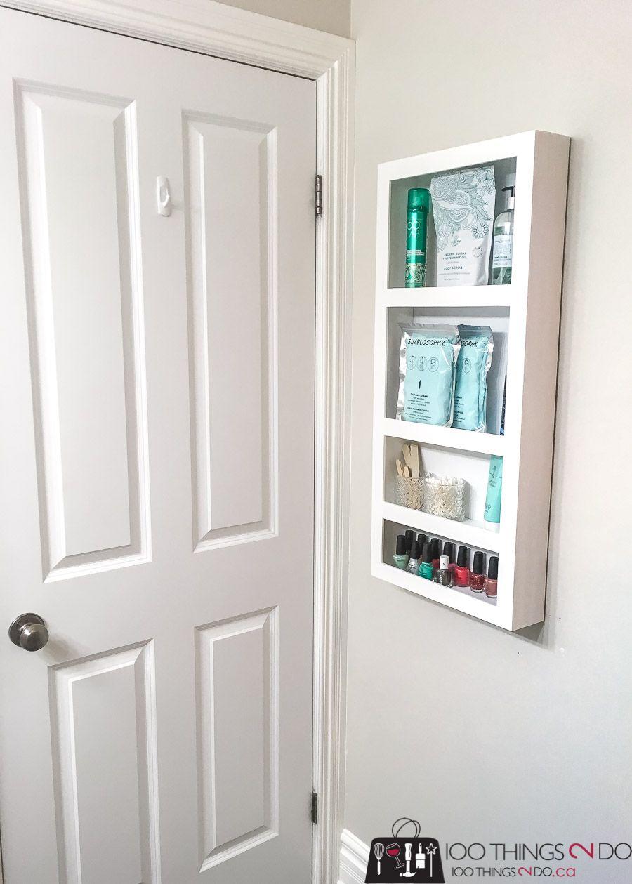 How To Build A Diy Behind The Door Storage Shelf In 2020 Door