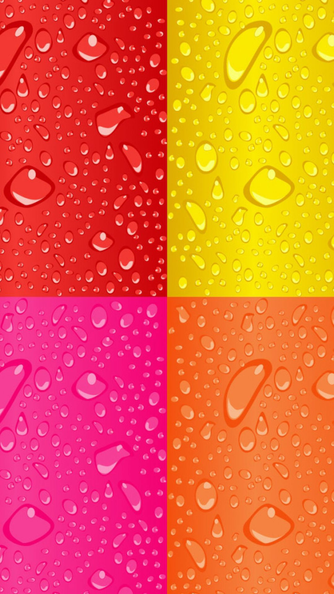 Colorful Red Yellow Purple Orange Squares Dew Drops Android