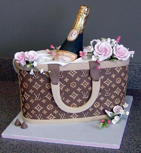 Groovy Designer Purse Class Handbag Cakes Louis Vuitton Cake Birthday Funny Birthday Cards Online Elaedamsfinfo