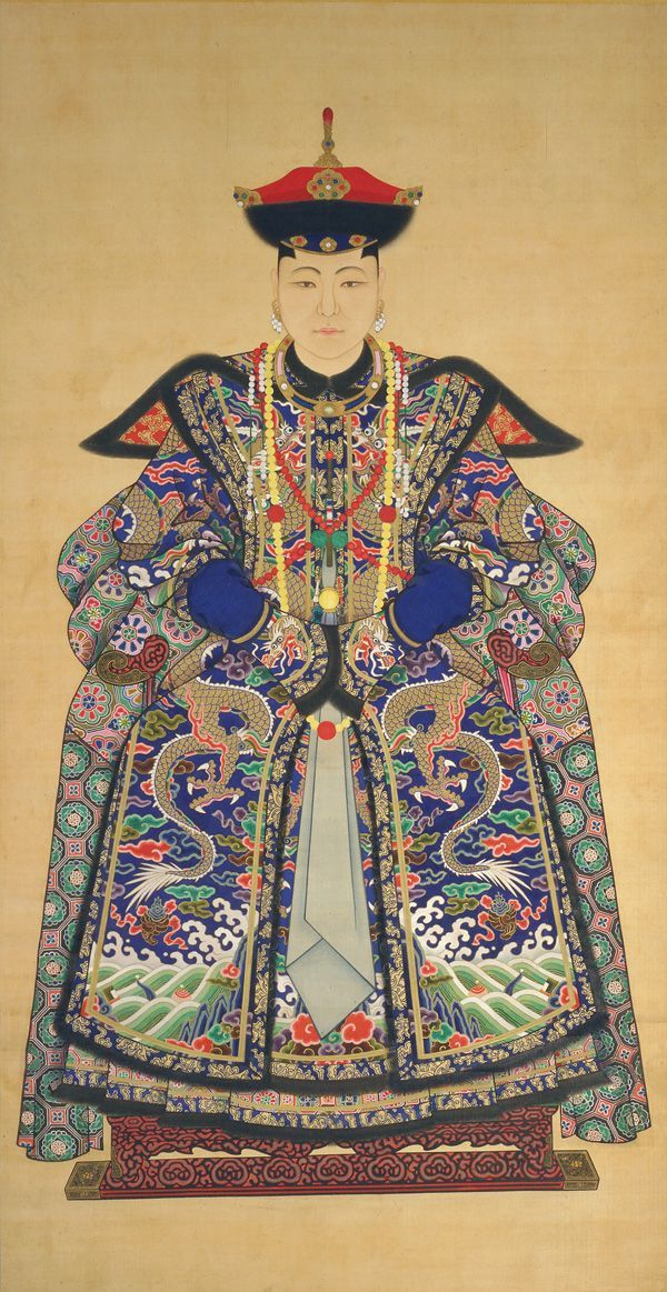 Chinese Art | Portrait of a Manchu Noblewoman (Lady-in-Waiting to Empress)