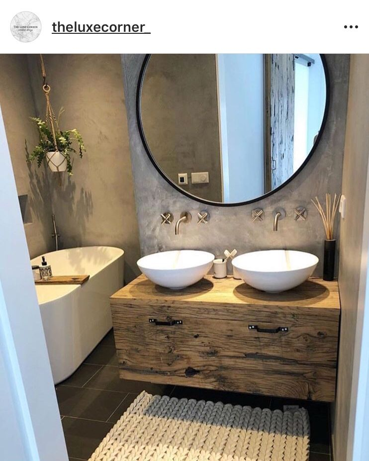 Driftwood Style Bathroom Vanity Bathroom Design Bathroom Makeover Bathroom Inspiration