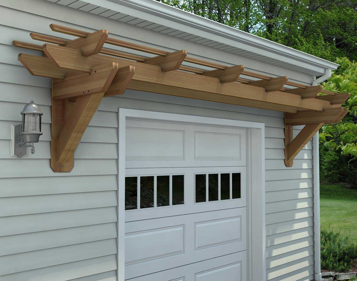 Eyebrow Wall Mount Pergolas | Pergolas by Style ...