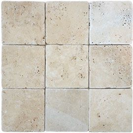 Carrelage mural ivoire marbre travertin 10 x 10 cm for Carrelage mural 10x10