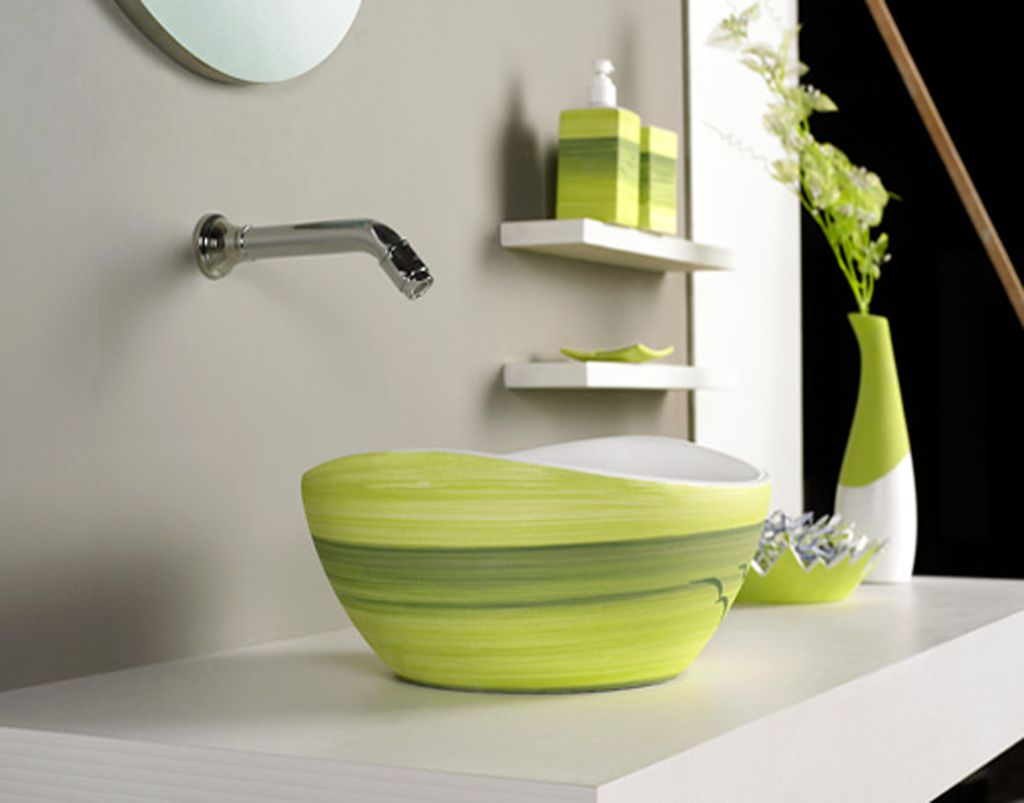 Designer Bathroom Sinks Basins Greenbathroomaccessoriessets 1024×803 Pixels  Color