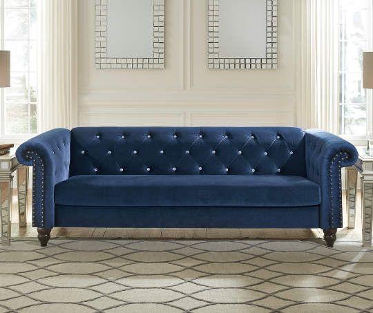 Best Signature Design By Ashley Malchin Navy Blue Tufted 400 x 300