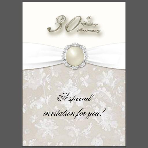 30th Wedding Anniversary Invitation Zazzle Com In 2021 30th Wedding Anniversary Wedding Anniversary Invitations Anniversary Invitations