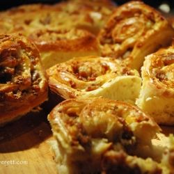 Savory Sausage Breakfast Rolls - Sausage, cheese, onion, and sage rolled up cinnamon roll style in a pillow soft dough.