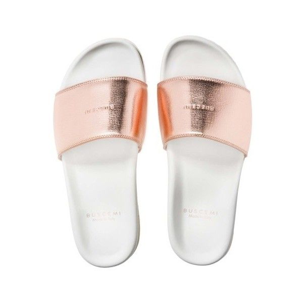 a2e43cd64976 WOMENS SLIDES ROSE GOLD ( 395) ❤ liked on Polyvore featuring shoes ...