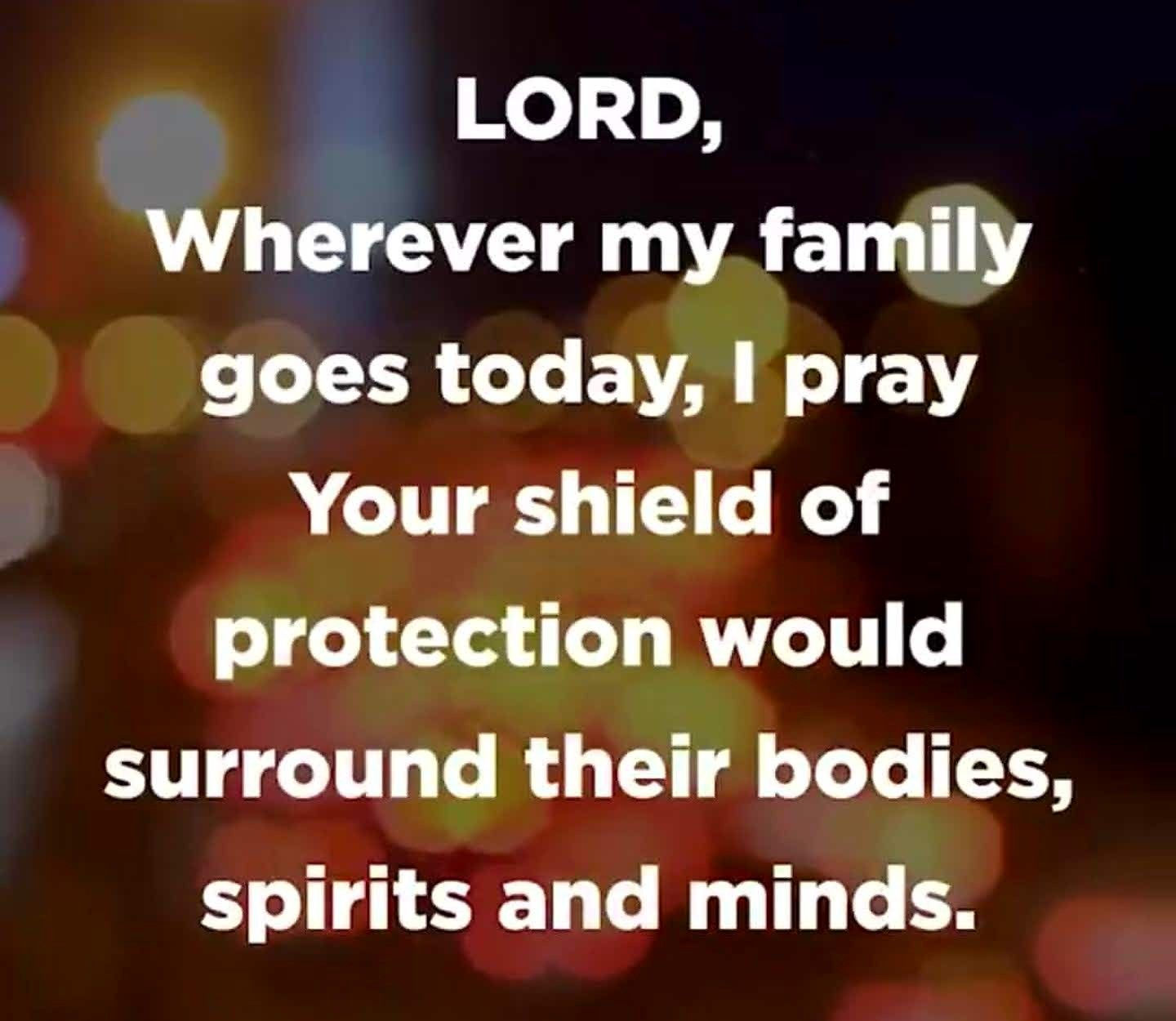 Protect My Family And Shield Them With The Blood Of Jesus Amen