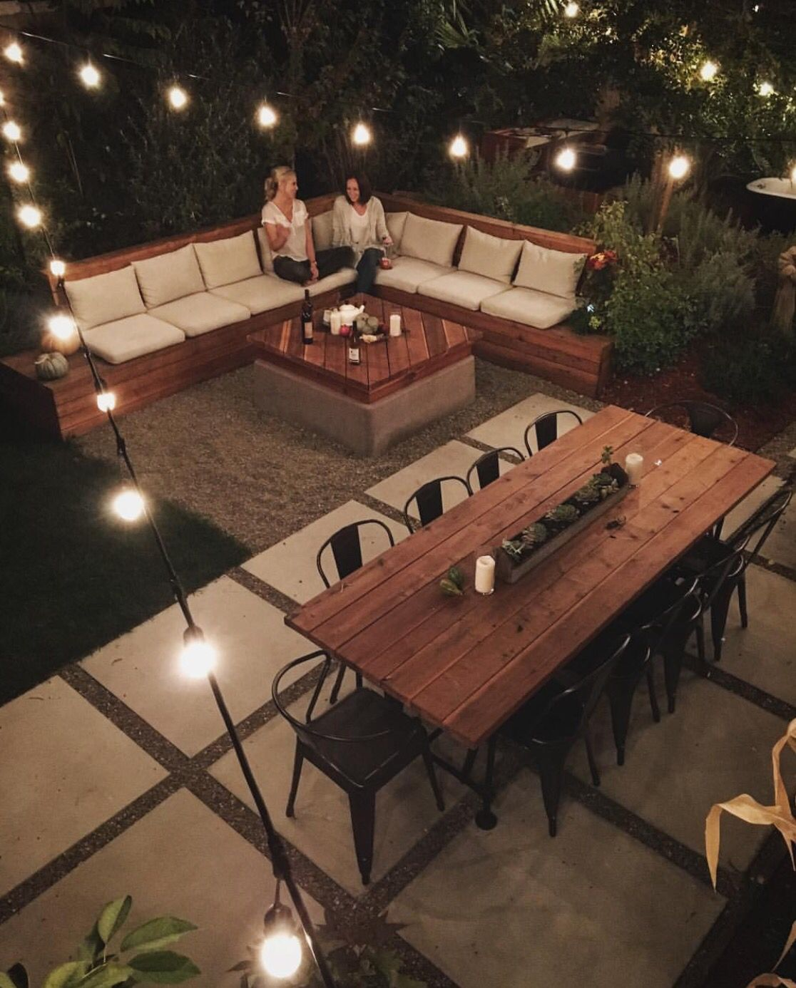 awesome backyard idea can u0027t forget the sectional table and