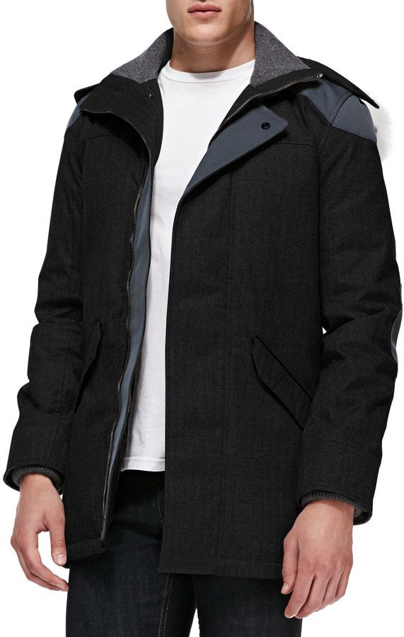 Pin by Lookastic on Men's Product of the Day   Black parka