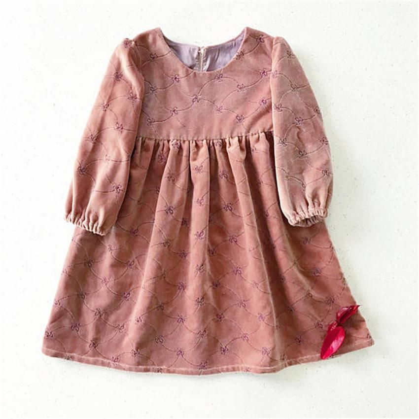 15f78a1fb534 Latest Design Baby Clothes Beautiful Kids Dresses Long Sleeve Winter Baby  Girl Dress 2018