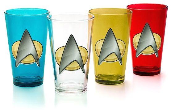 Star Trek Tng Insignia 4 Pint Set Startrek Star Trek