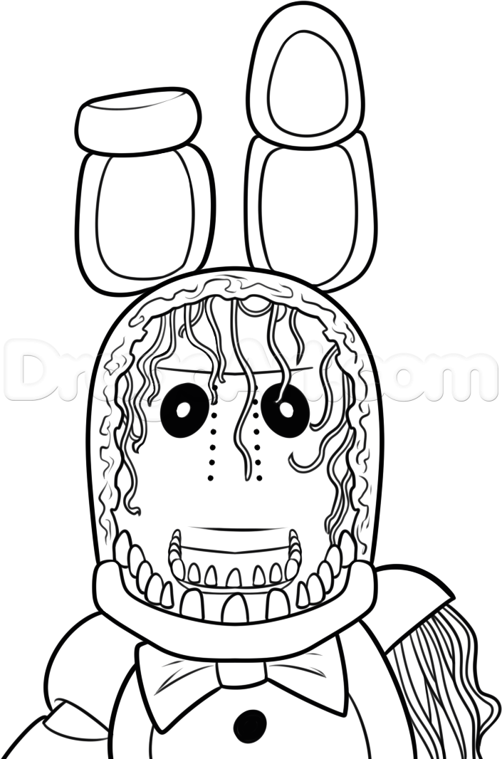 FNAF Toy Bonnie Coloring Page - Free Printable Coloring