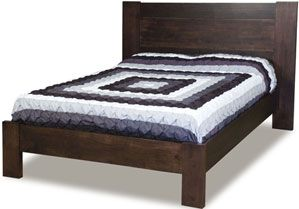 33% OFF Amish Furniture - Hand Crafted Shaker and Mission Furniture Online Outlet Store: Jacqueline Bed: Oak