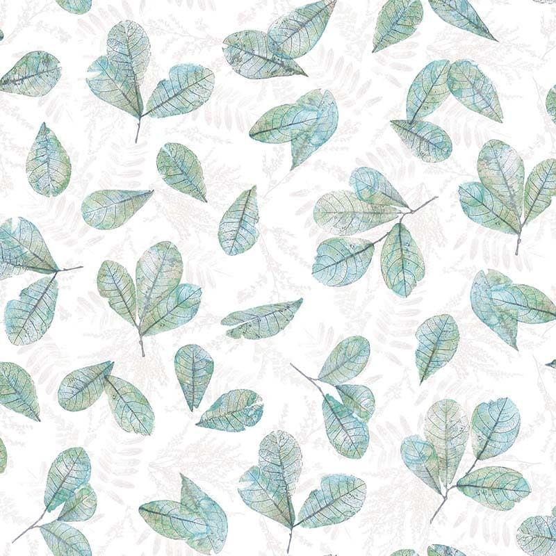 Papier Peint Feuille Ever Turquoise 7303 De La Collection Papier