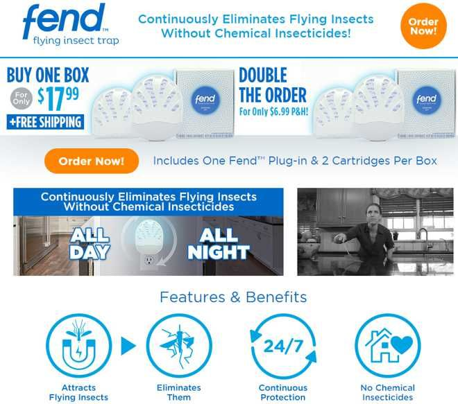 Fend is a plug-in flying insect trap which works without chemical insecticides…
