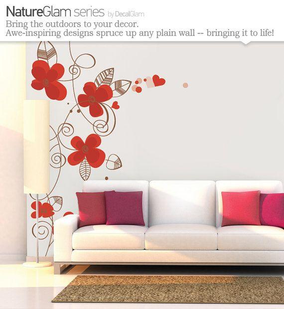 Floor To Ceiling Wall Decal Poppies
