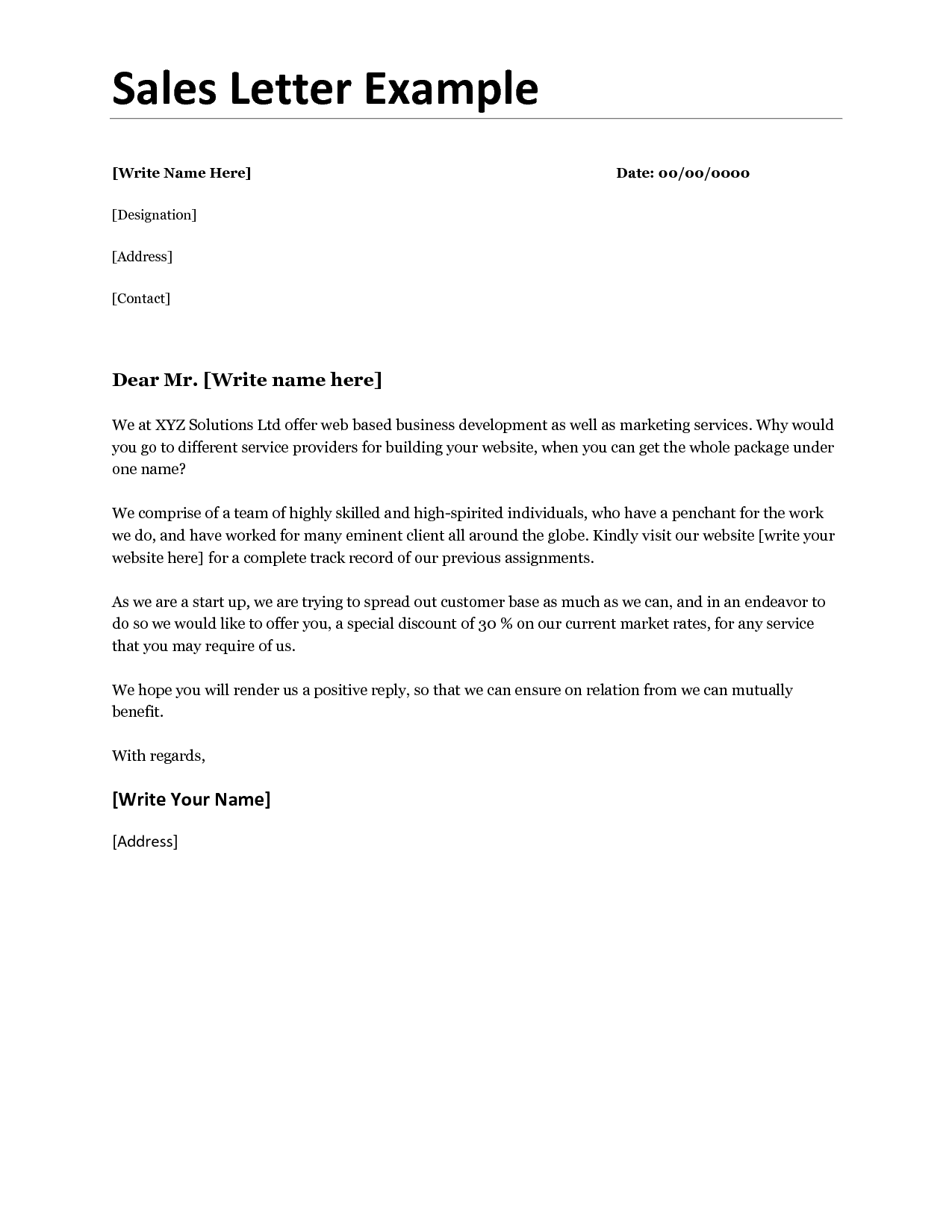 Business Sales Letter Mughals Business Business Business Sales