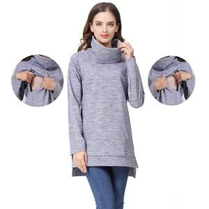 52d531ec6e114 Elegant Maternity Clothes Thermal breastfeeding Coat Turtle Neck Nursing  Sweaters Hoodie the Color of Gray. Regular price $54.04 #pregnant # breastfeeding ...