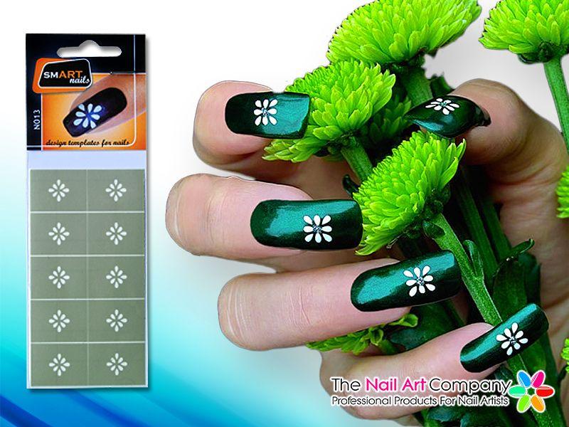 SmART-nails - Tribal Flower Nail Art Stencil Set N013