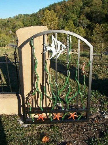 decorative driveway markers.htm custom made garden gates in wrought iron style under the sea  garden gates in wrought iron