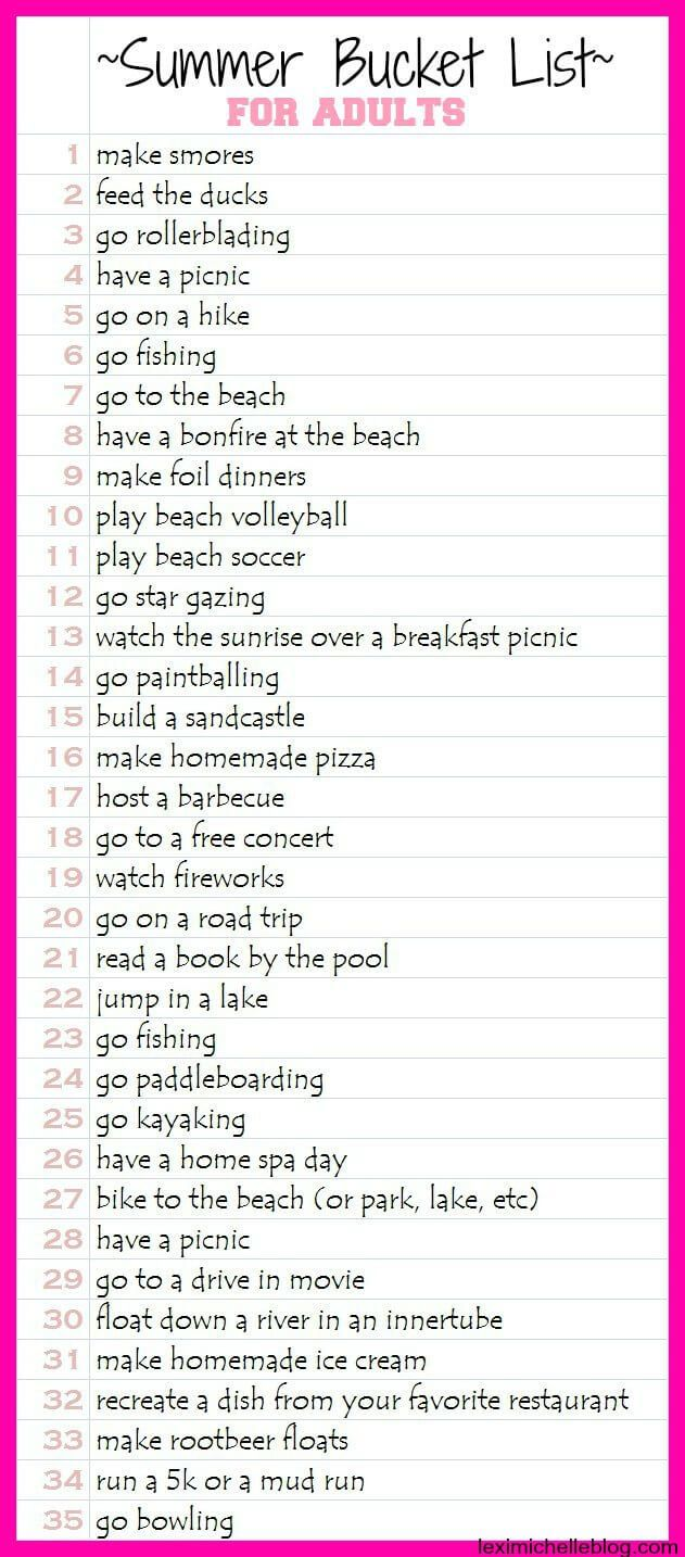 The Ultimate Summer Bucket List Emma Hannah Crafts Pinterest