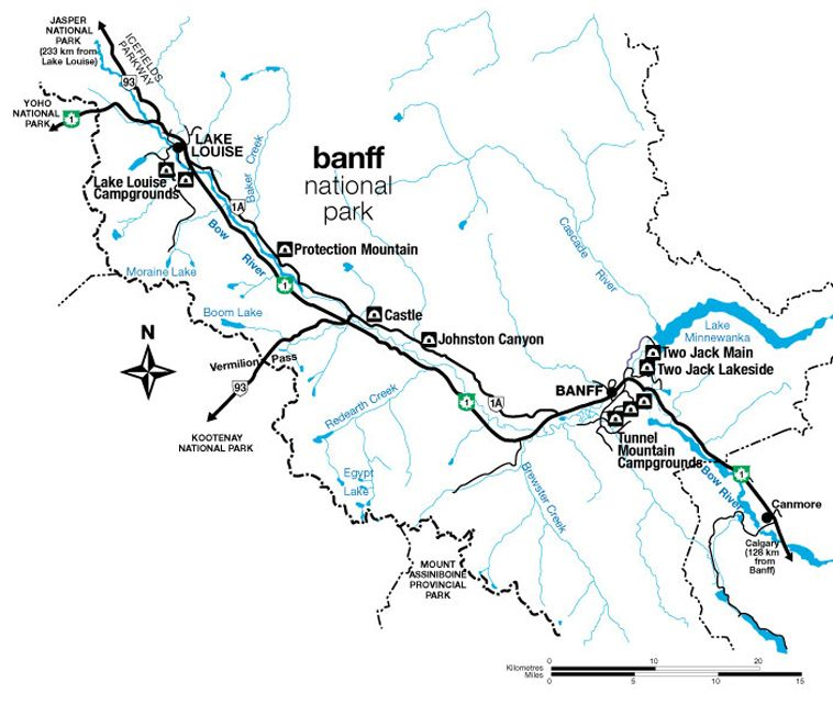 Parks Canada - Banff National Park - Campground Locations