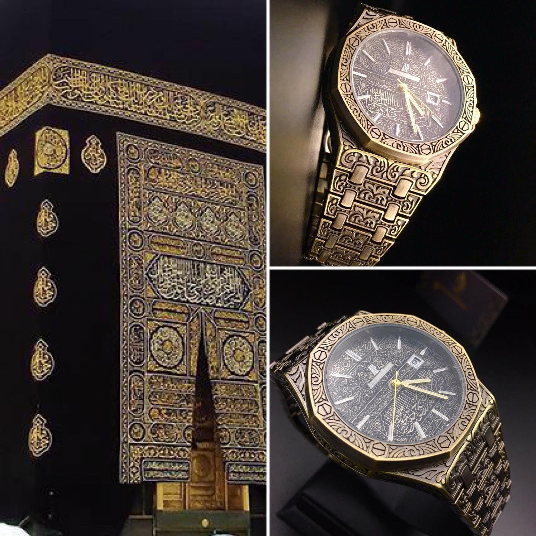 مستوحاه من كسوه الكعبة الشريفة ساعات رجالي جديدة ماركة ادميرباجية لطلب اظغط على رابط الوتساب Https Wa Me 967736850402 او Rolex Watches Accessories Rolex