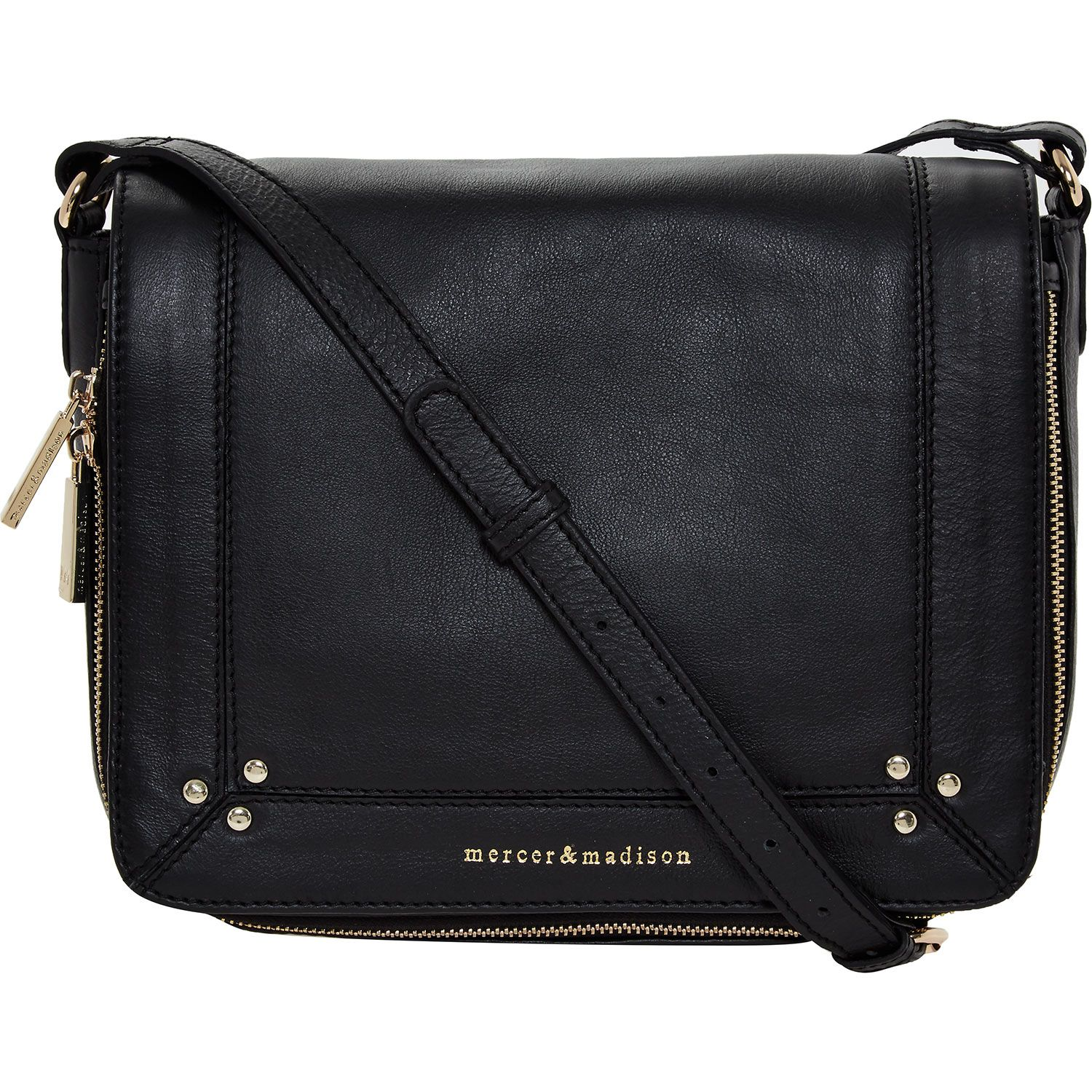 Mercer Madison Black Leather Shoulder Bag Tk Ma