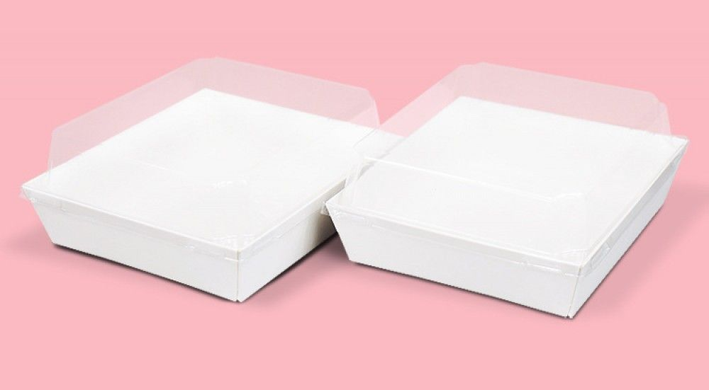 10 علب مربعة أبيض Takeout Container 10 Things Food