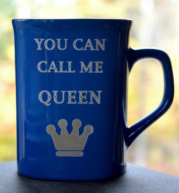 Mug for Coffee or Tea  Engraved Ceramic  You di DesignerBeeClub