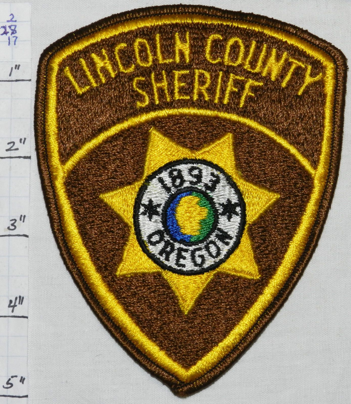 Lincoln County Oregon Sheriff Patch Fire Highway Patrol State Police 19 99 Lincoln County Police Patches Sheriff