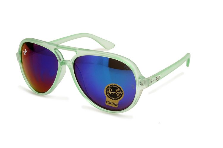 Ray Ban Cats 5000 Flash RB4125 Dark Blue Green Sunglasses   Ray Ban ... 5646759a0117