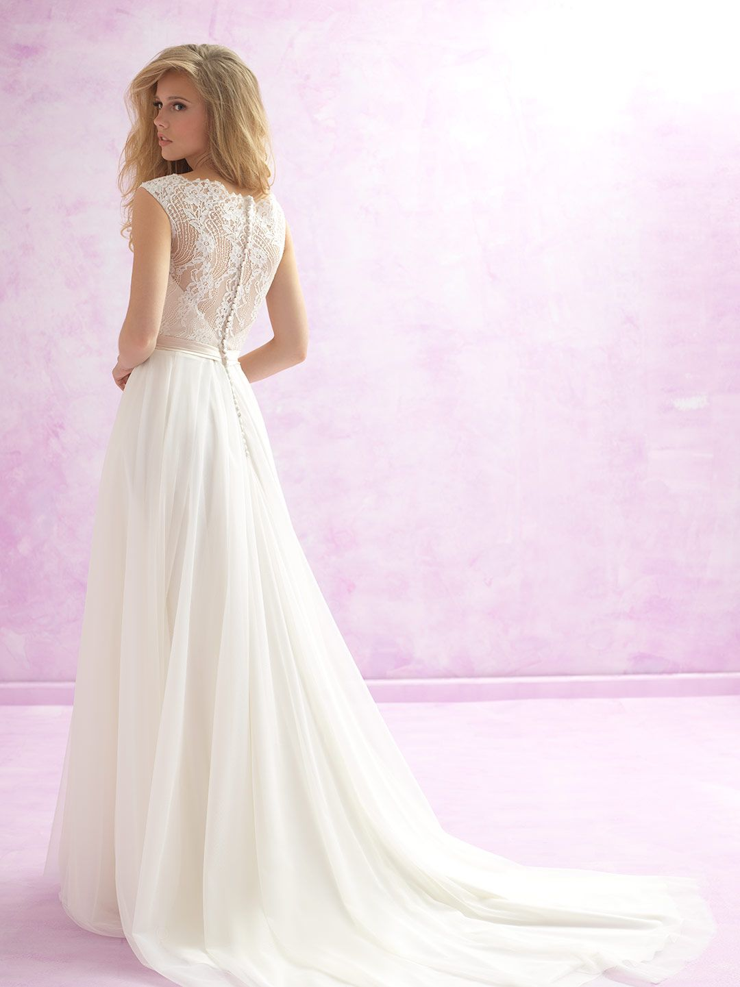 Bridal by Madison James: MJ101 has scalloped lace overlay composes ...