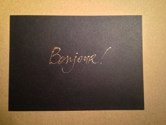 Bonjour pure gold greeting card 24k by artist art24k by art24k bonjour pure gold greeting card 24k by artist art24k by art24k m4hsunfo